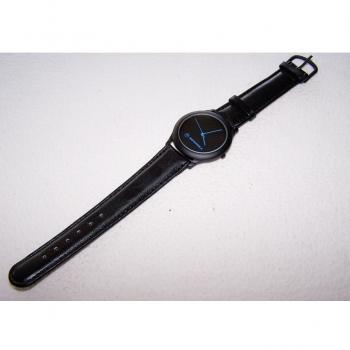 Schmuck - Uhren - Armbanduhr wasserdicht mit Lederarmband und blauen Zeigern
