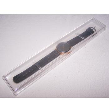 Schmuck - Uhren - Armbanduhr - ziffernblatt mit horizontalem Muster - im Kunststoffetui