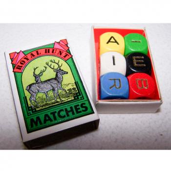 Spiel - Minispiele in Streichholzschachteln - Würfelwörterspiel
