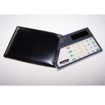 Büro - Bürowerkzeuge - durchsichtiger Solartaschenrechner - mit Etui