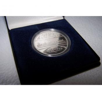 Hobby - Münzen & Medaillen - Silbermedaille Stettiner Werft 500. Schiff - Etui offen