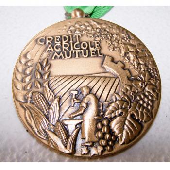 Hobby - Münzen & Medaillen - Bronze-Medaille Credit Agricole Mutuel Loir & Cher - Rückseite