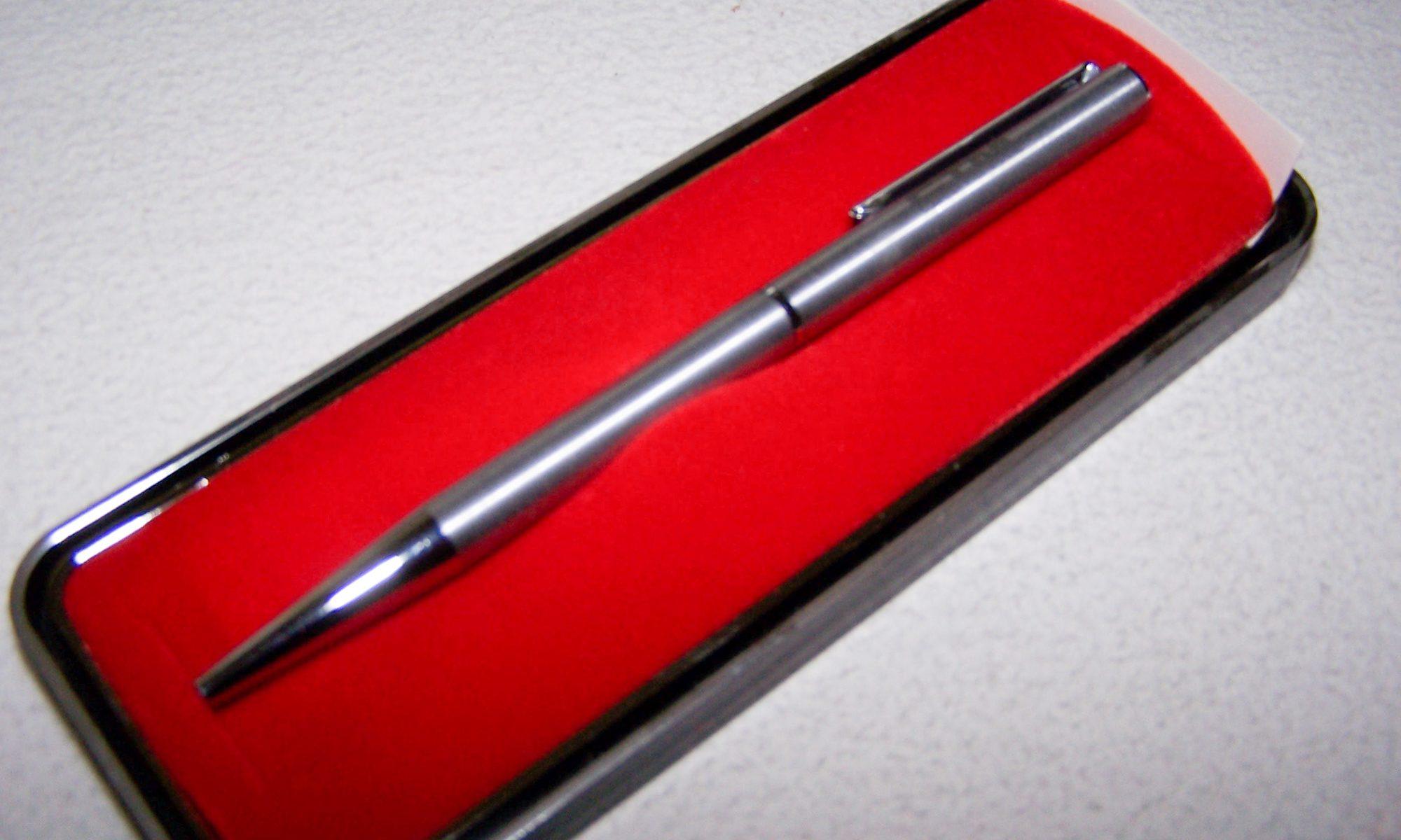 Büro - Bürowerkzeuge - Schreibwerkzeuge - Stempelkugelschreiber im Etui