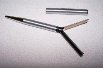 Büro - Bürowerkzeuge - Schreibwerkzeuge - Stempelkugelschreiber - Stempel geöffnet