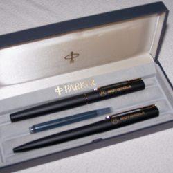 Büro - Bürowerkzeuge - Schreibwerkzeuge - Füllfederhalter-/Kugelschreiber-Set im Etui mit Tintenpatrone