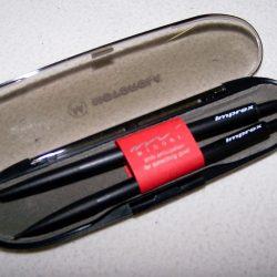 Büro - Bürowerkzeuge - Schreibwerkzeuge - Kugelschreiber -/Minenbleistift-Set Imprex - Etui geöffnet