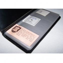 Büro - Ablage & Archiv - Visitenkartensammler für 120 Visitenkarten - geöffnet