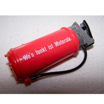 Licht - Feuerlöscher-Feuerzeug - liegend mit Slogan