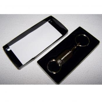 Haushalt - Sicherheit - Schlüsselanhänger - Motorola silberfarben - im Etui