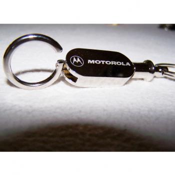 Haushalt - Sicherheit - Schlüsselanhänger - Motorola silberfarben - geöffneter Ring
