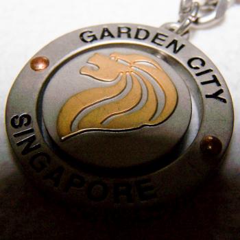 Haushalt - Sicherheit - Schlüsselanhänger - Singapur - Motiv Garden City