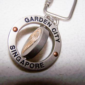 Haushalt - Sicherheit - Schlüsselanhänger - Singapur - drehbare Motive