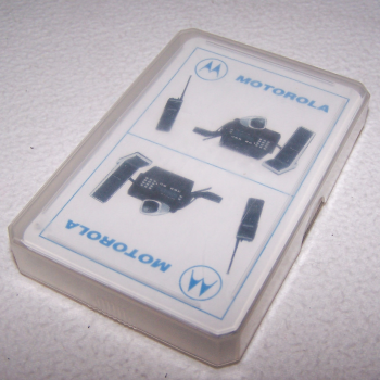 Spiel - Skat-Karten - Motorola Funkgeräte - Kunststoffbox