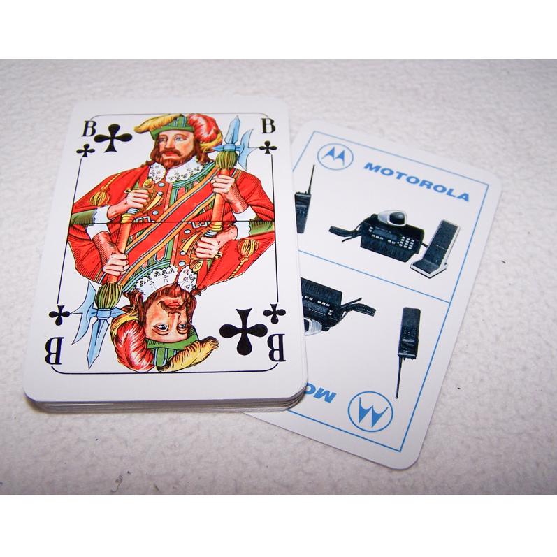 Spiel - Skat-Karten - Motorola Funkgeräte - Karten