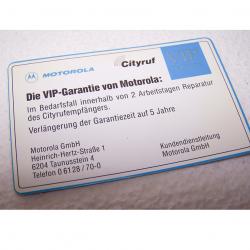 Büro - IT & Kommunikation - Cityruf VIP-Servicekarte - Rückseite