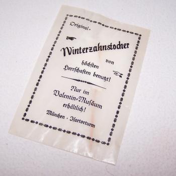 Werbung - Winterzahnstocher aus dem Valentin-Museum München
