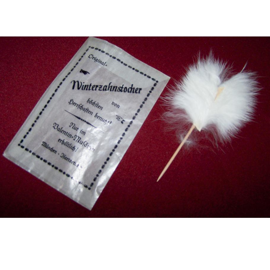 Werbung - Winterzahnstocher aus dem Valentin-Museum München - ausgepackt