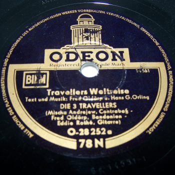 Audio-Video-Foto - Schallplatten - Schellackplatten - 3 Travellers - Weltreise