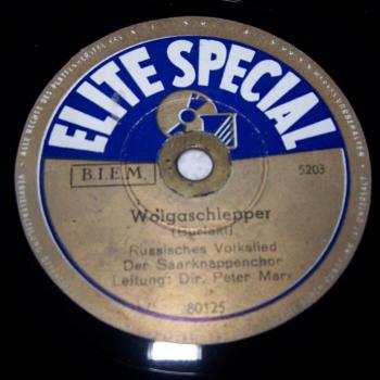 Audio-Video-Photo - Tonträger - Schellackplatten - Saarknappenchor - Wolgaschlepper