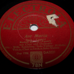 Audio-Video-Photo - Tonträger - Schellackplatten - Rudolf Schock - Ave Maria