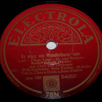 Audio-Video-Photo - Tonträger - Schellackplatten - Rudolf Schock - Es muss ein Wunderbares sein
