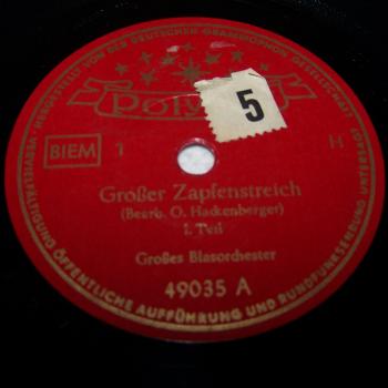 Audio-Video-Photo - Tonträger - Schellackplatten - Großer Zapfenstreich Teil 1