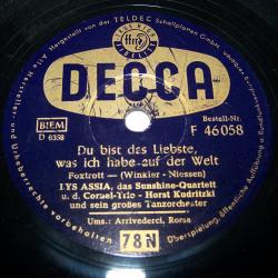 Audio-Video-Photo - Tonträger - Schellackplatten - Lys Assia - Du bist das Liebste, was ich habe auf der Welt
