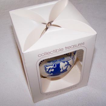 Souvenirs - Kunststoffkugel der Nittany Lions von der Pennsylvania State University - originalverpackt