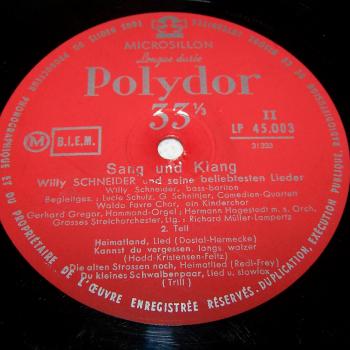 Audio-Video-Photo Tonträger - Langspielplatten - Willy Schneider - Sang und Klang - Seite 2