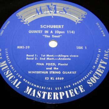 Audio-Video-Photo Tonträger - Langspielplatten - Schubert - Forellen-Quintett - Seite 1