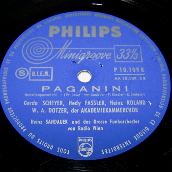 Audio-Video-Photo Tonträger - Langspielplatten - Franz Lehar - Paganini