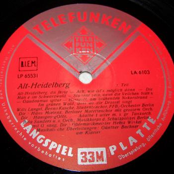 Audio-Video-Photo Tonträger - Langspielplatten - Alt Heidelberg - Seite 1