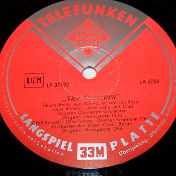 Audio-Video-Photo Tonträger - Langspielplatten - 4 Operetten - Seite 1