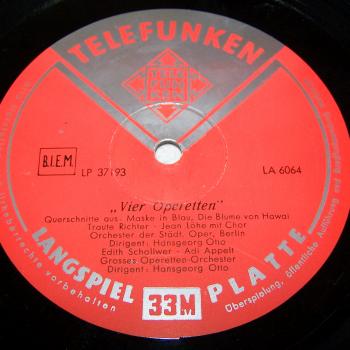 Audio-Video-Photo Tonträger - Langspielplatten - 4 Operetten - Seite 2