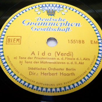 Audio, Video & Photo - Tonträger - Schellackplatten - Giuseppe Verdi: Aida - B-Seite