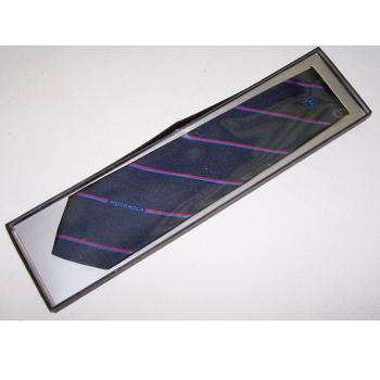 Bekleidung - Krawatten - schwarz mit rot/blauen Streifen und Motorola-Schriftzug - originalverpackt