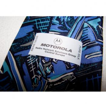 Bekleidung - Krawatten - schwarz/weiß/blaues Graffiti mit Funkgeräten - Passantino