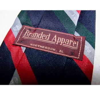 Bekleidung - Krawatten - schwarz mit rot/silber/grünen Streifen mit Motorola-Logo - Passantino