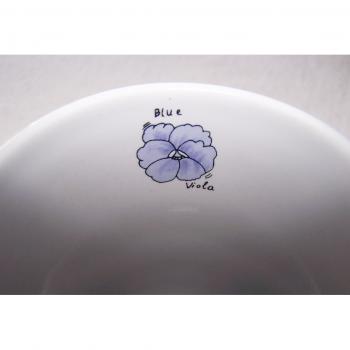 Haushalt - servieren - Geschirr - Kaffee-/Tee-/Milchbecher - 3er Set Blüten-Obst - innen - Enzian