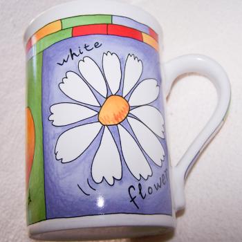 Haushalt - servieren - Geschirr - Kaffee-/Tee-/Milchbecher - 3er Set Blüten-Obst - Margerite