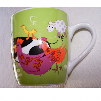 Haushalt - servieren - Geschirr - Kaffee-/Tee-/Milchbecher - Bauernhof-Tiere - Huhn