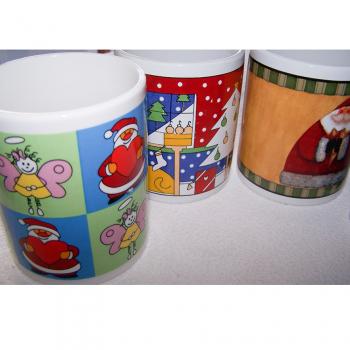 Haushalt - servieren - Geschirr - 5er Set Kaffee-/Tee-/Milchbecher - Musterdetail 1