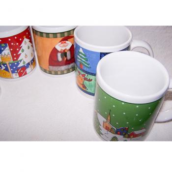 Haushalt - servieren - Geschirr - 5er Set Kaffee-/Tee-/Milchbecher - Musterdetail 2