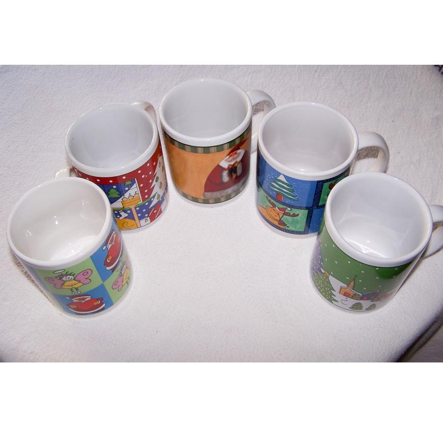 Haushalt - servieren - Geschirr - 5er Set Kaffee-/Tee-/Milchbecher