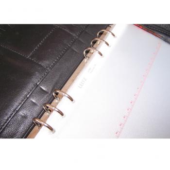 Büro - Ablege & Archiv - Leder-Ringbuch für Time/system Zeitmanagement-Einlagen - 6-Loch-Mechanismus