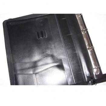 Büro - Ablage & Archiv - Ringbuch-Mappe mit Schreibblock - linke Innenseite