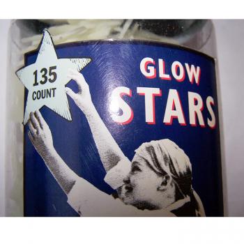 Haushalt - dekorieren - Glow Stars - leuchtende Sterne in der Dunkelheit - Etikett