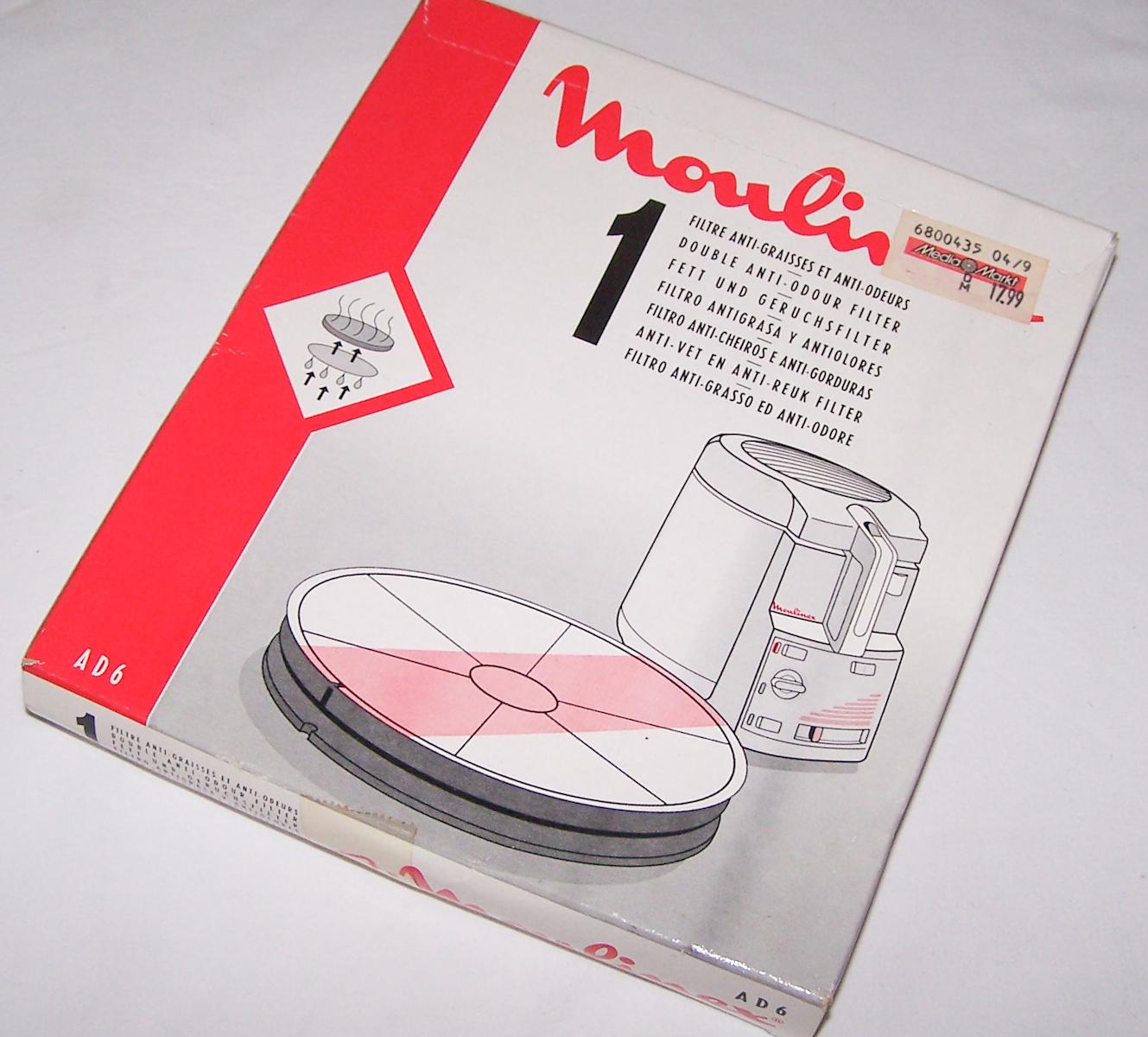 Haushalt - kochen & backen - moulinex Fett- und Geruchsfilter
