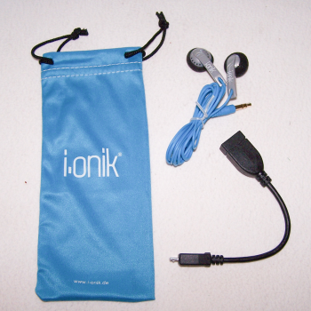 Audio, Video & Photo - Kopfhörer-Set für Smartphones, Tablets, etc. - Kopfhörer, OTG-Kabel und Microfaserbeutel