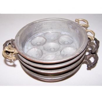 Haushalt - servieren - Kupfer-Schneckenpfännchen - 4er-Set